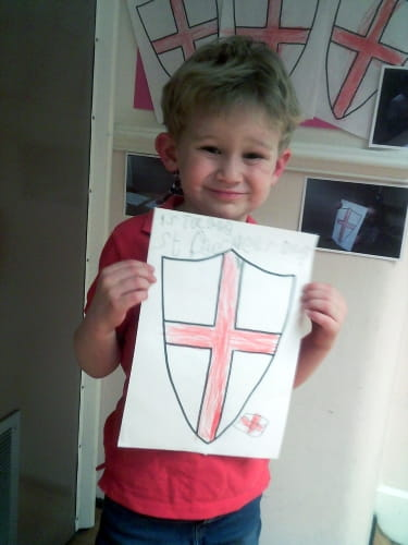 Reigate children celebrate St. George's Day