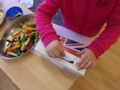 Reading nursery children hold their own polling day