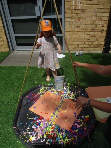Basingstoke nursery children embrace mark making activity