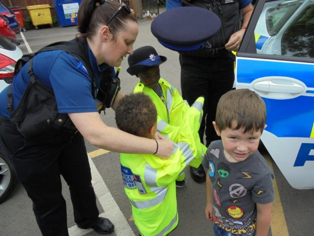 Dartford nursery children enjoy lollipop man visit