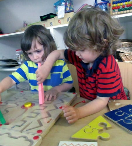 Manchester nursery children explore magnetism