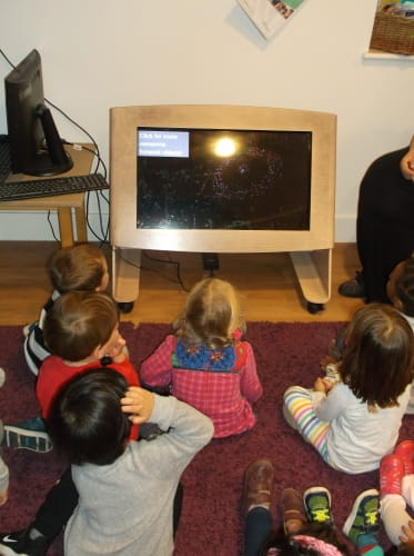 London nursery children celebrate Bonfire Night