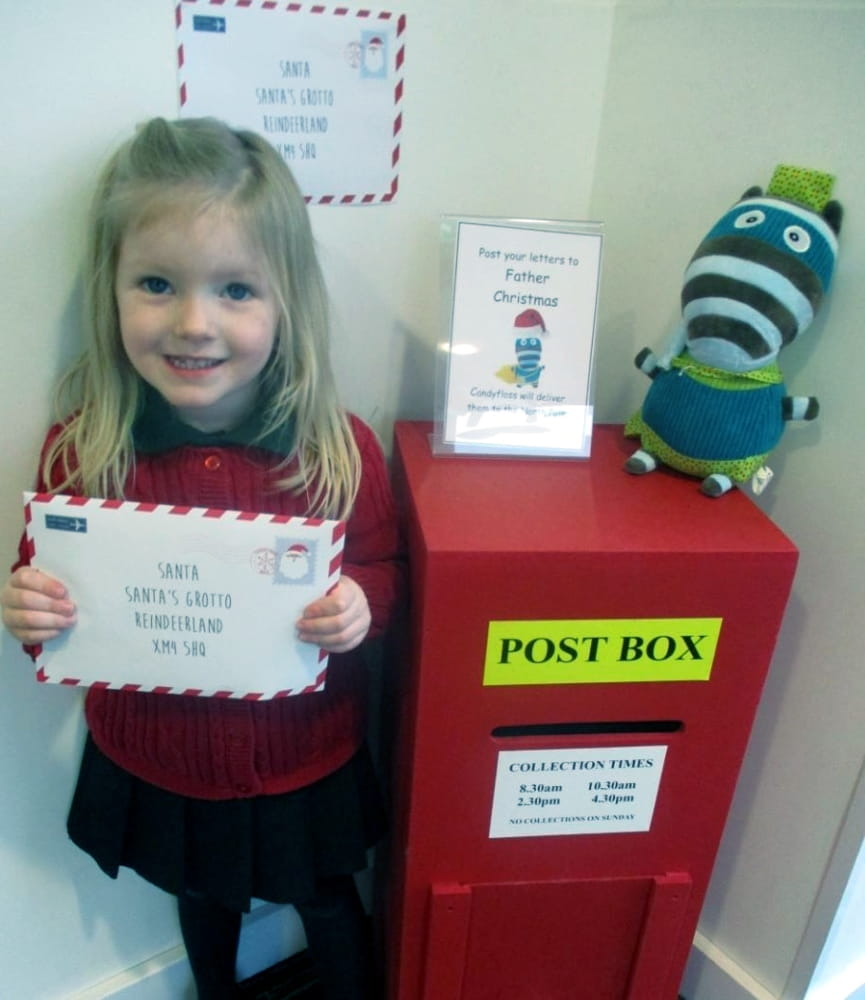 Didcot nursery children write letters to Santa