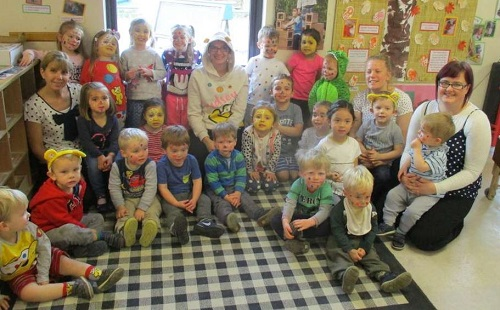Children in Need fundraising at Bumpers Nursery