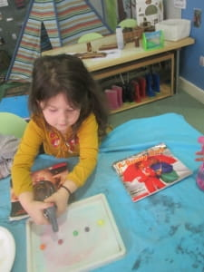Colour Mixing at Crewe Nursery and Preschool