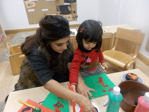 East India Christmas card making