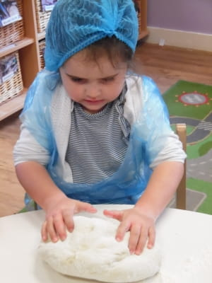 Englefield Green Nursery Baking Bread
