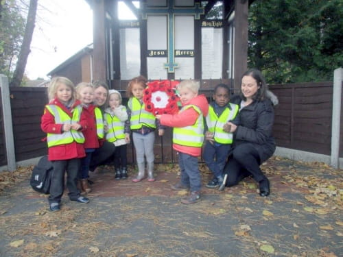 Remembrance Day at Footsteps Day Nursery and Preschool