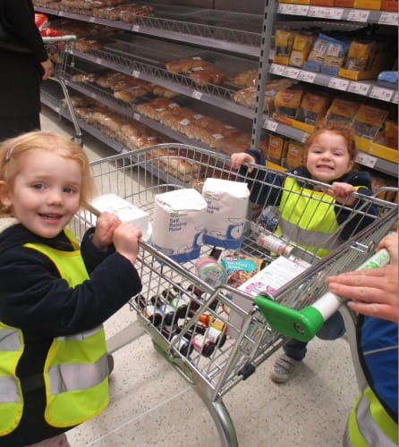 St Mary's Hulme Nursery and Preschool shopping trip
