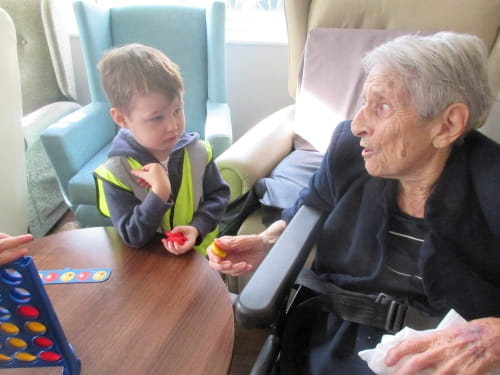 Timperley Nursery Visits Care Home